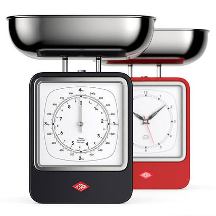 Wesco Retro Scale with Clock both sides
