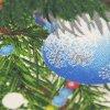 Michel Design Works white christmas tea towel - close up