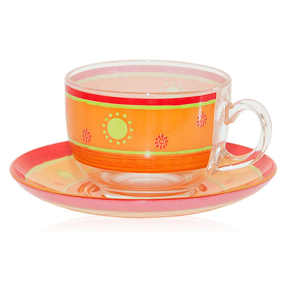 Luminarc PAREO CORAIL, Cup & Saucer, 220ml