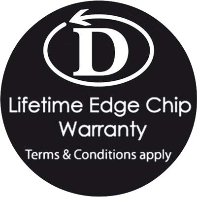 Dudson Edge Chip Warranty Logo