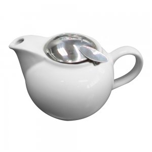 CR73 Roma White Teapot with Stainless Steel Lid 450ml