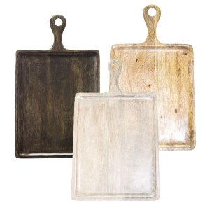 Chef Inox Mango wood Rectangle board with handle 400x200x15 Mix