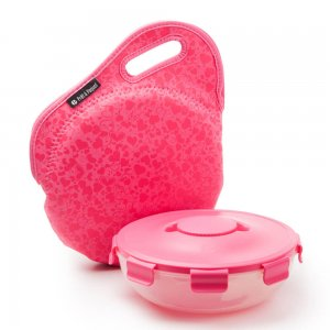 Prêt à Paquet Salad Pack with Neoprene Sleeve Playful Pink SL2005