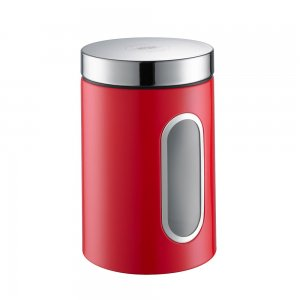 Wesco Canister with Window 2L Red 321204-02