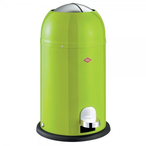 Wesco kickmaster junior 12l waste bin lime green for Green bathroom bin