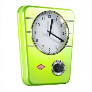 Wesco Kitchen Clock Lime Green 322401-20