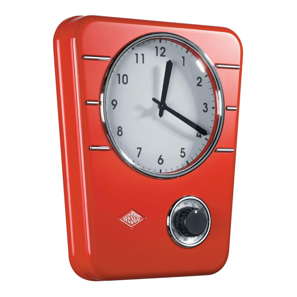 Wesco Kitchen Clock Red 322401-02
