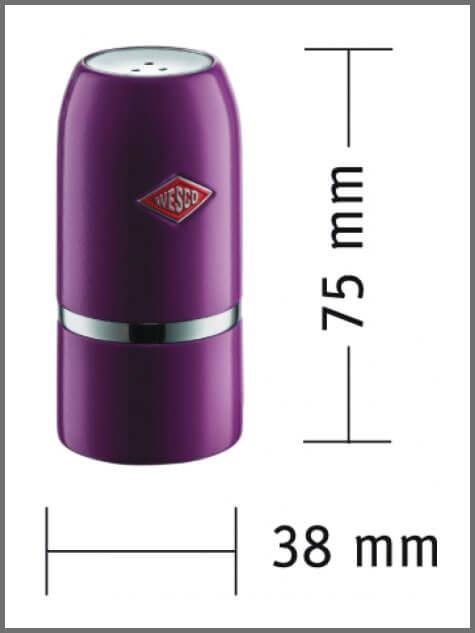 Wesco Salt & Pepper Shaker Set Dimensions
