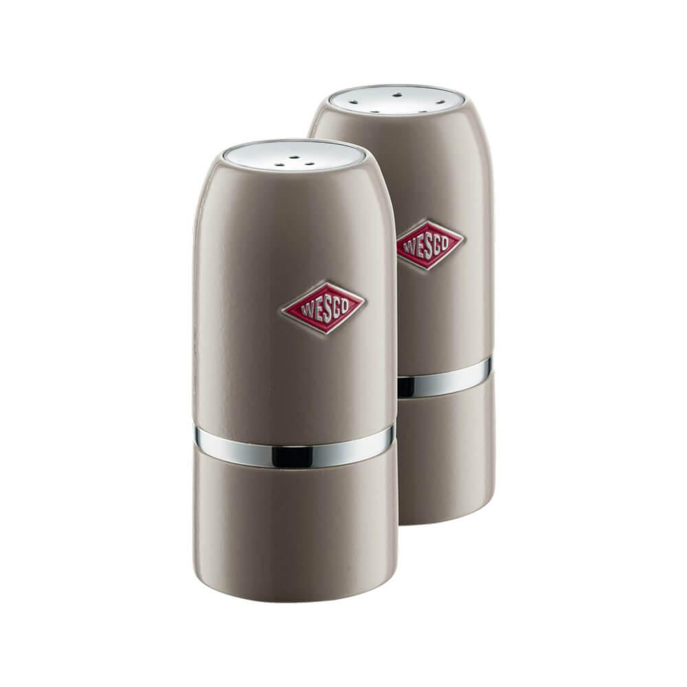 Wesco Salt & Pepper Shaker Set Warm Grey 322854-57