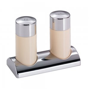 Wesco Salt & Pepper Shaker Set with stand Almond 322744-23
