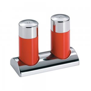 Wesco Salt & Pepper Shaker Set with stand Red 322744-02
