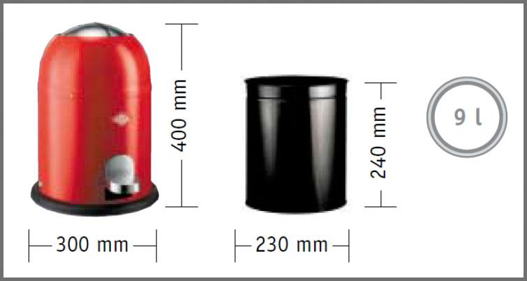 Wesco Single Master 9L Dimensions